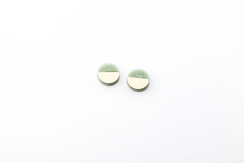 Corian Sector Earrings   - Small - Jade