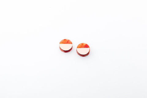Corian Sector Earrings  - Small - Lava