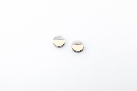 Corian Sector Earrings   - Small - Marble
