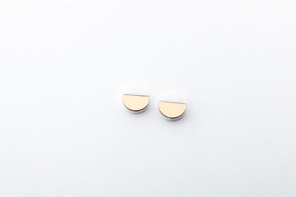 Corian Sector Earrings  - Small - Winter