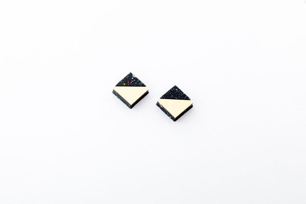 Corian Section Earrings  - Small - Space