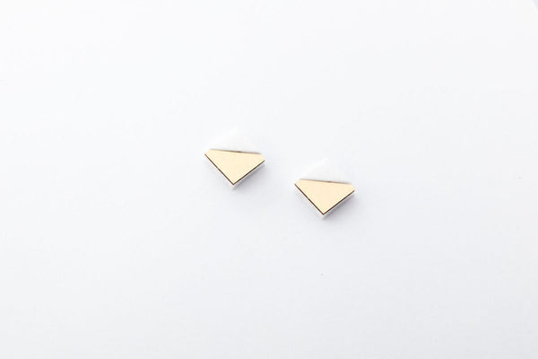 Corian Section Earrings  - Small - Winter