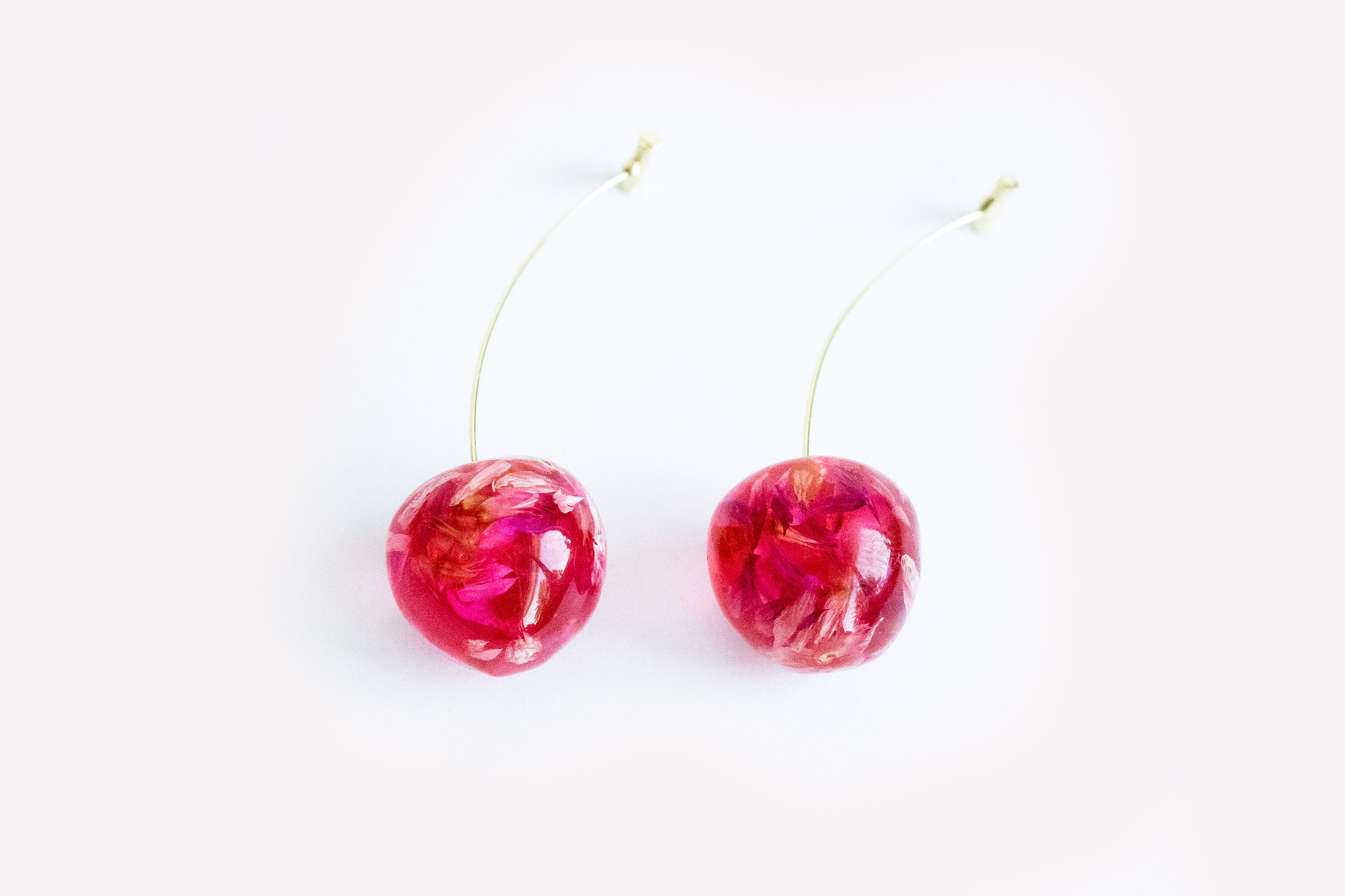 Cherry Fruit Flower Earrings