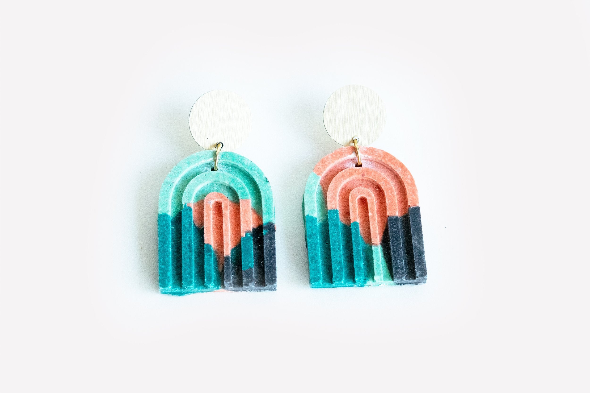 Arch Earrings - Guava