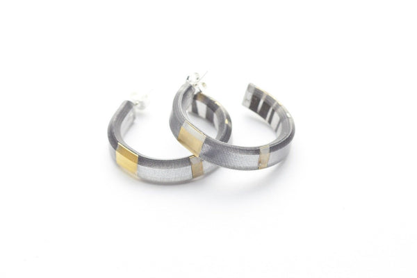 Electra Gold Hoop Earrings - Small