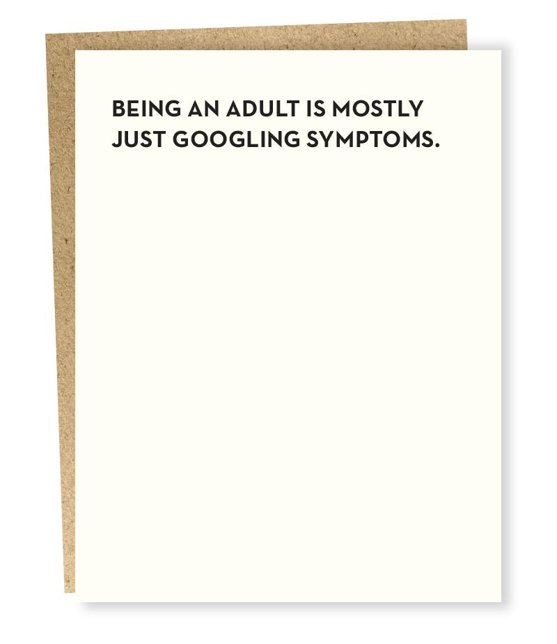 Being an Adult card
