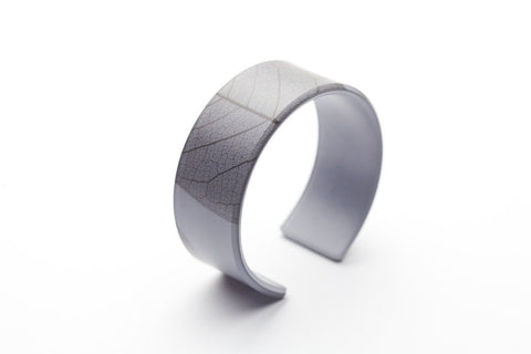 Fossil Leaf Gray Cuff - Narrow