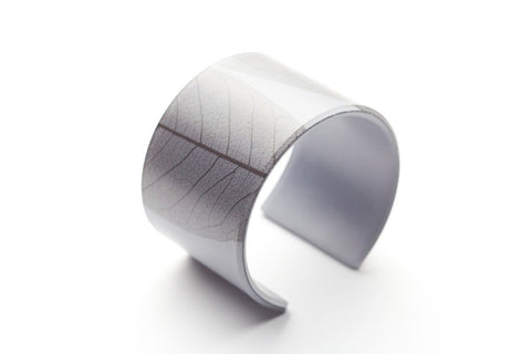 Fossil Leaf Gray Cuff - Wide