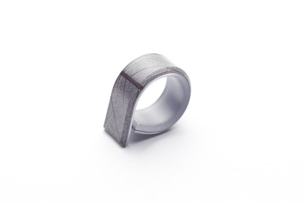 Fossil Leaf Gray Ring