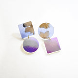 Ecoresin Earrings - Asymetric Large