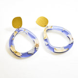Ecoresin Earrings - Fluid Drop Large