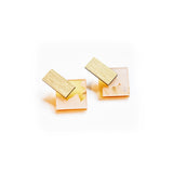 Ecoresin Earrings - Diamond Stud