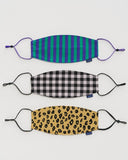 Baggu fabric mask-set of three - Ginham, Leopard, Stripe