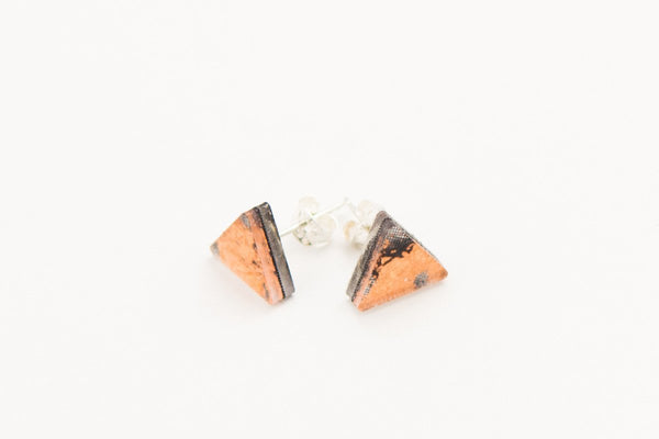 Gild Copper Stud Earrings - Triangle