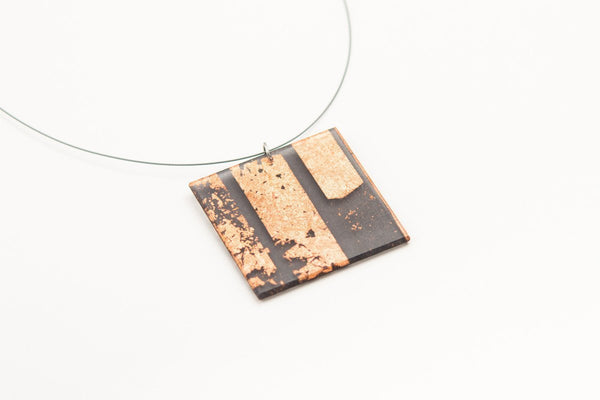 Gild Copper Necklace - Lrg Square