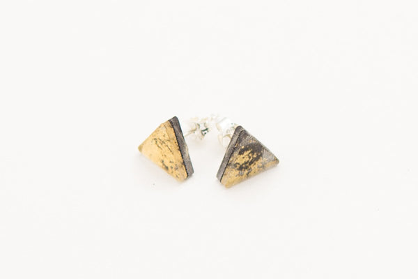 Gild Gold Stud Earrings - Triangle