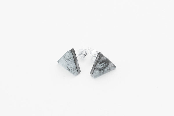 Gild Silver Stud Earrings - Triangle
