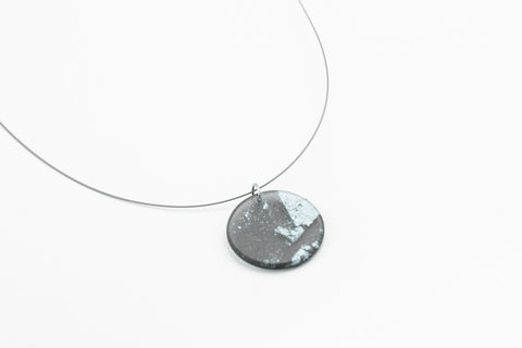 Gild Silver Necklace - Circle