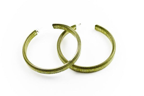 Hush Lichen Hoop Earrings - Large