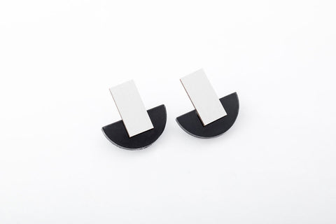Ink Earrings - Arc Stud