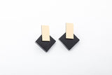 Ink Earrings - Diamond Stud