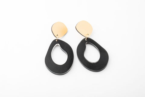 Ink Earrings - Fluid Drop