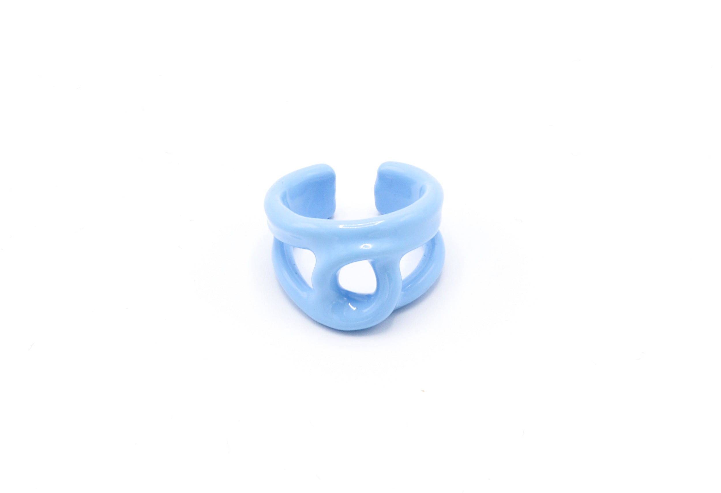 Blue twist Ring