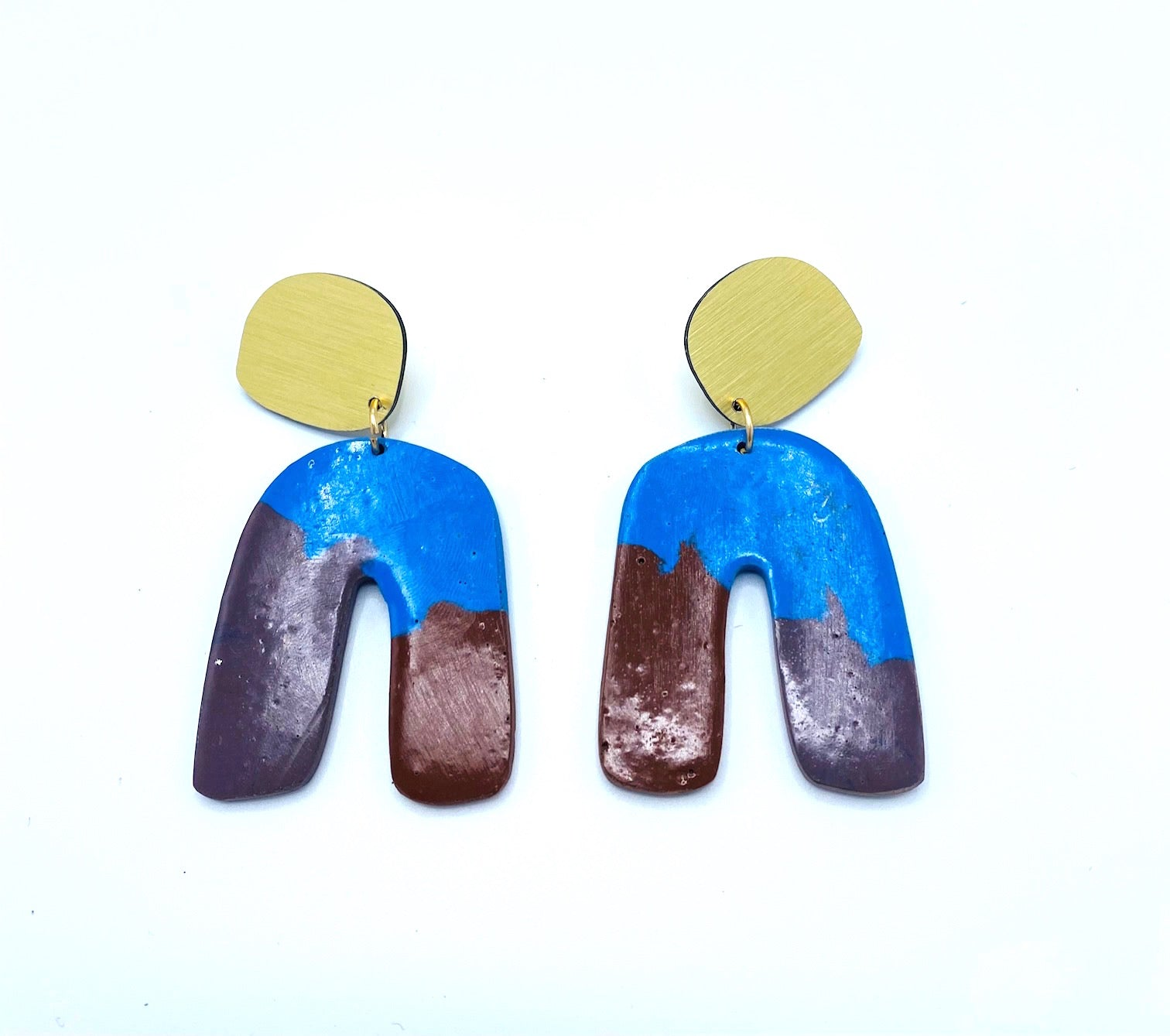 Concrete Curve Earring- Multi color