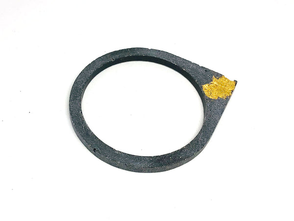 Concrete Bangle with Gold