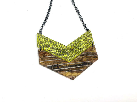 Banana Fibre and Hush Lichen Resin Chevron
