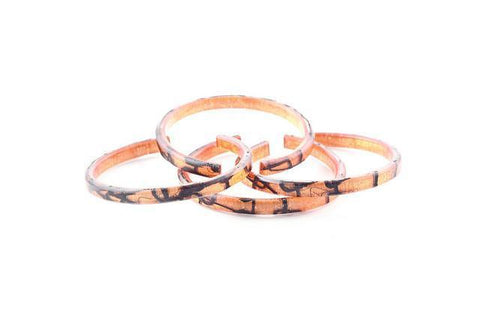 Lasso Coal Copper Bangle