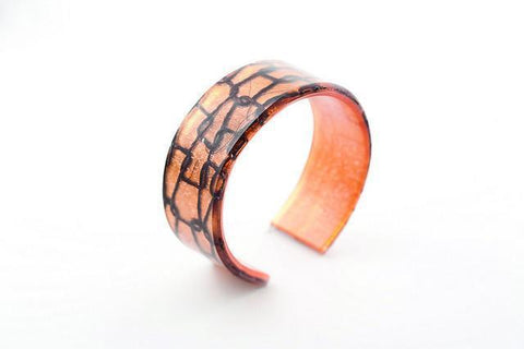 Lasso Coal Copper Cuff - Narrow
