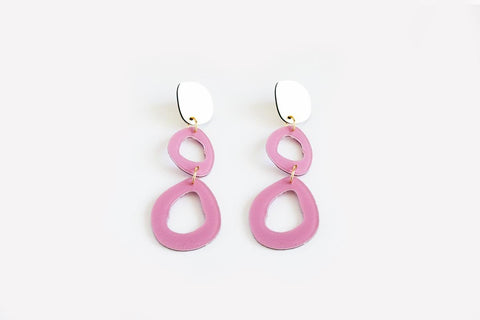Lilac Earrings - Fluid Double Drop