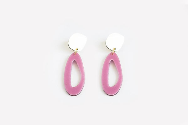 Lilac Earrings - Fluid Oval Drop