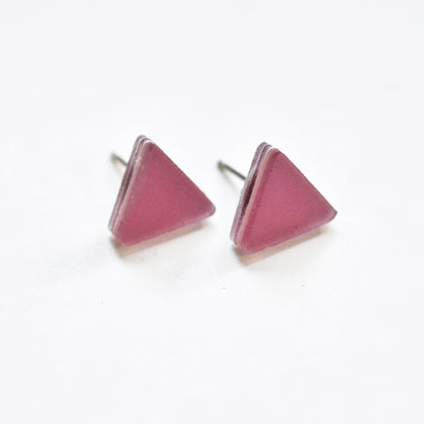 Lilac Stud Earrings - Triangle