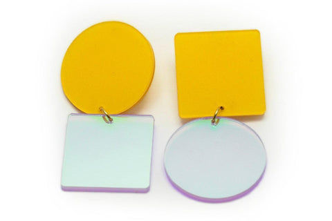 Mellow Earrings - Asymetric Large - Solar