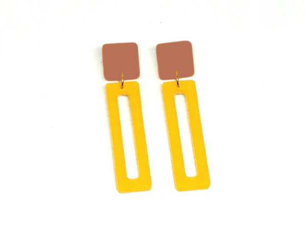 Ecoresin Earrings - Bar - Small