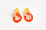 Mellow Peach Punch Earrings - Triple Link