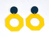 Ecoresin Earrings - Octagon - Large