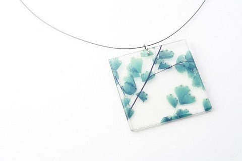 Maidenhair Necklace - Lrg Square