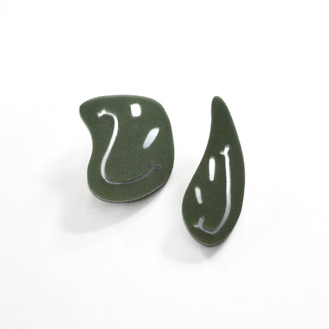 Moss Earrings - Smiley