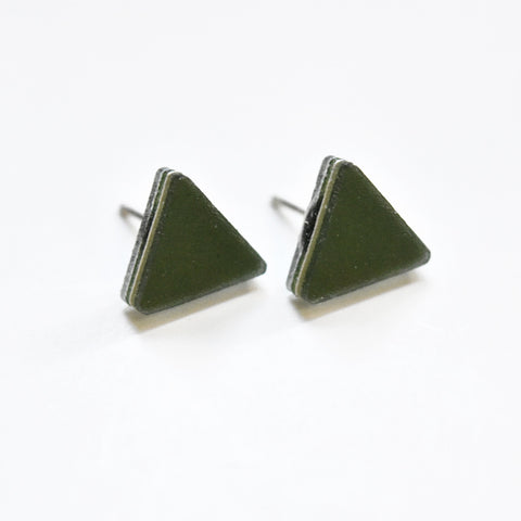 Moss Stud Earrings - Triangle