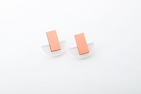 Powder Earrings - Arc Stud