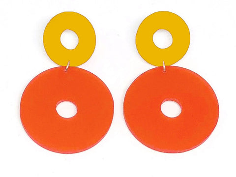 Ecoresin Earrings - Open Circle - Large