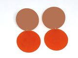Ecoresin Earrings - Double Circle - Large