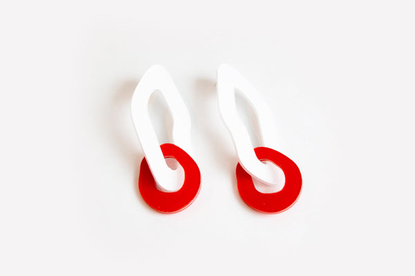Powder Punch Earrings - Double Link