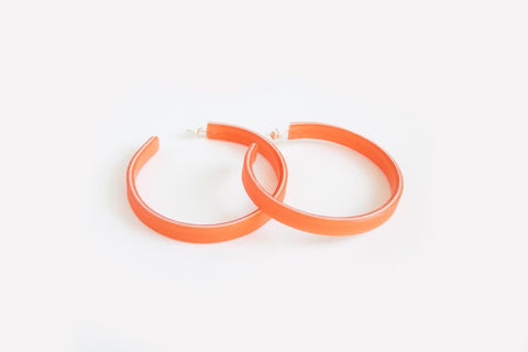 Peach Hoop Earrings Large