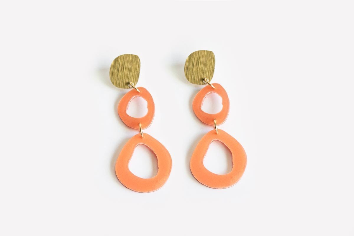 Ecoresin Earrings - Fluid Double Drop