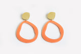 Peach Earrings - Fluid Drop Large