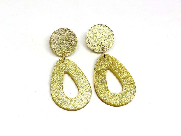 Pure Gold Ecoresin Earrings - Drop - Small